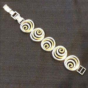 Brighton Gold & Silver Toned Swirl Bracelet